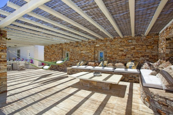 Villa Elina Pool - Antiparos, Greece:terrace3.JPG
