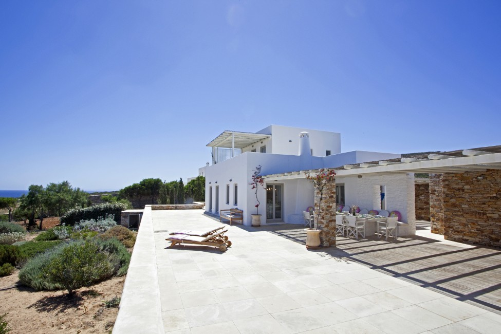 Villa Elina Pool - Antiparos, Greece:terrace4.JPG