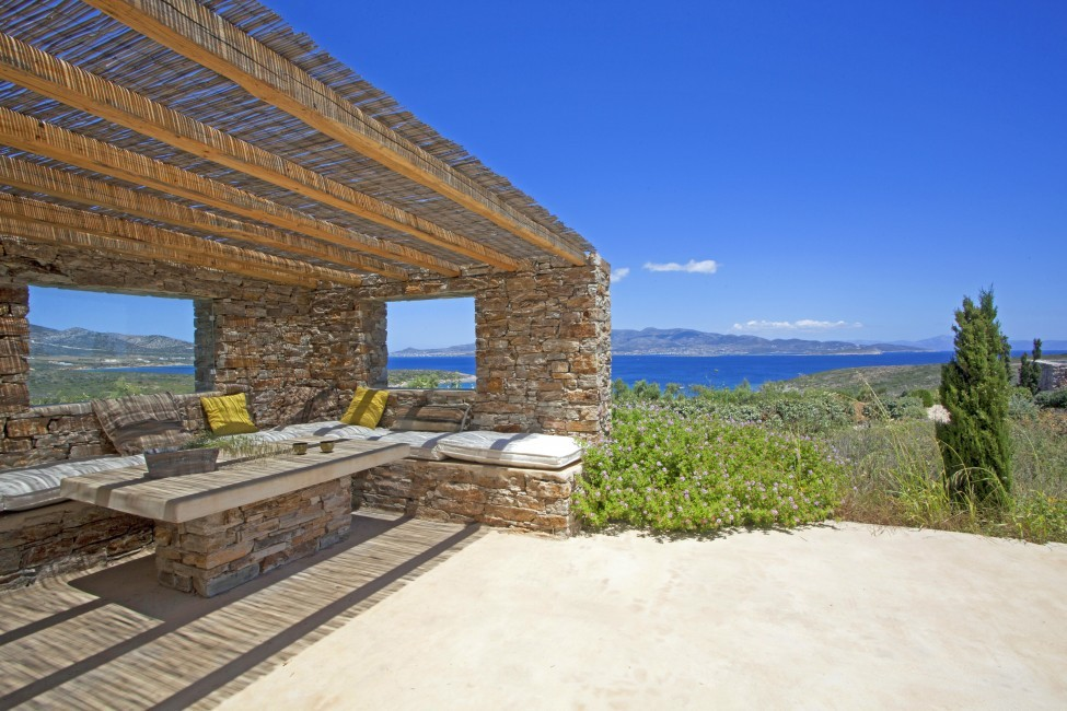 Villa Elina Pool - Antiparos, Greece:terrace6.JPG