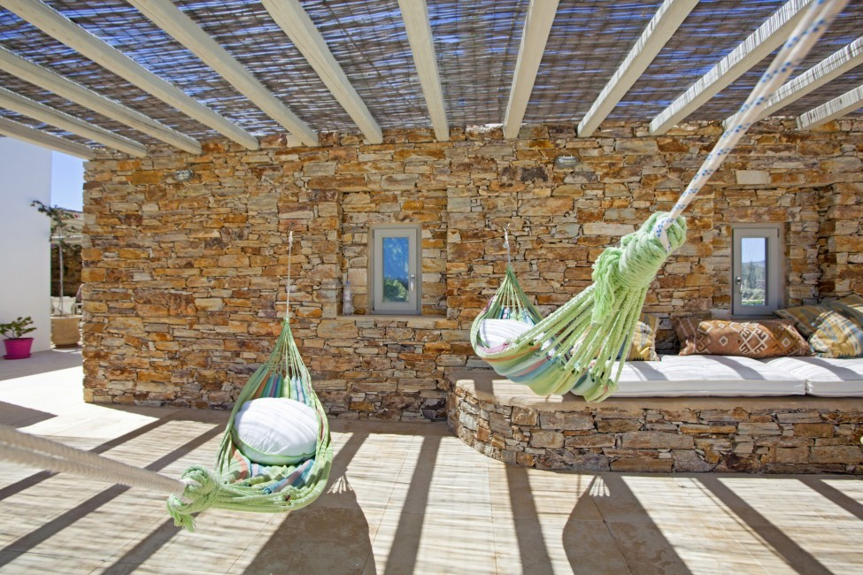 Villa Elina Pool - Antiparos, Greece:terrace1.JPG