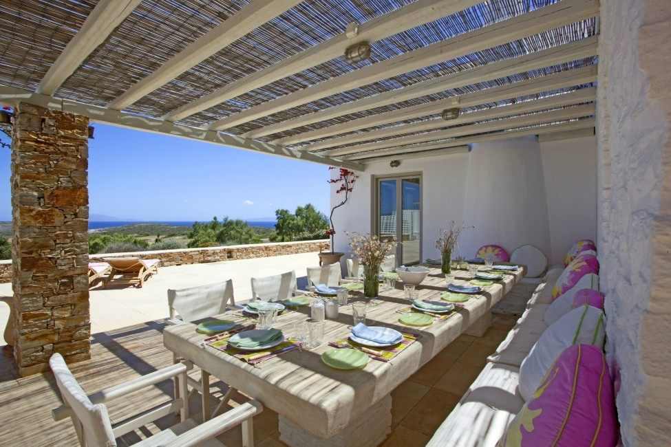 Villa Elina Pool - Antiparos, Greece:terrace2.JPG